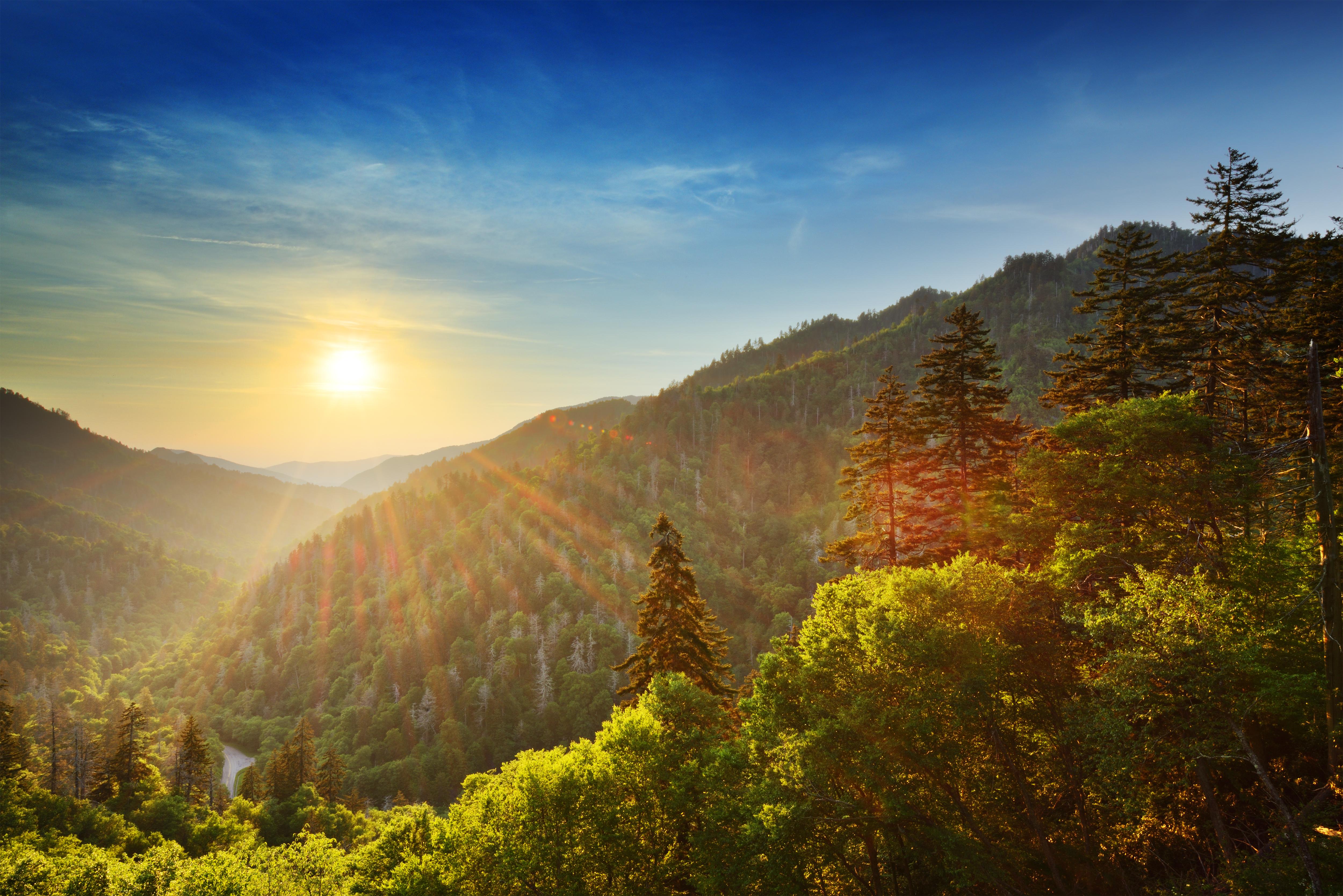 Smoky Mountain at sunset